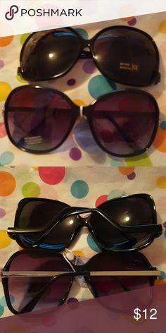 Brand New Sunglasses, 2 Pairs! 2 pairs of brand new larger sized sunglasses. One has the tag attached and the other doesn't, but they both still have the stickers on them. Never worn, only tried on. Oceanice Color Lens Accessories Sunglasses