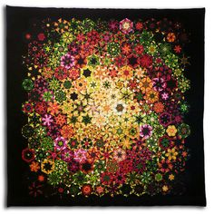 """Galactic"" by Bruce H Seeds A one-block wonder quilt."