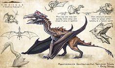 Hyperendocrin Quetzalcoatlus by EmilyStepp.deviantart.com on @DeviantArt