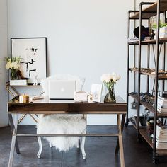 @chrisellelim gives us a peek inside her stylish workspace. (Tap link in bio for the 3 things she must have on her desk)