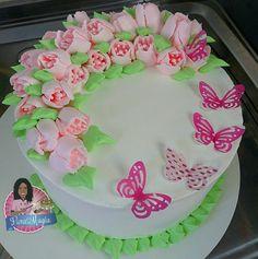 Bolo decorado bico 1 m wilton chantilly e borboletas meus bolo decorado com bico russo altavistaventures Image collections