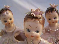Vintage Ucagco Japan Parasol Girls Old Lot of 3 Sweet | #38705011