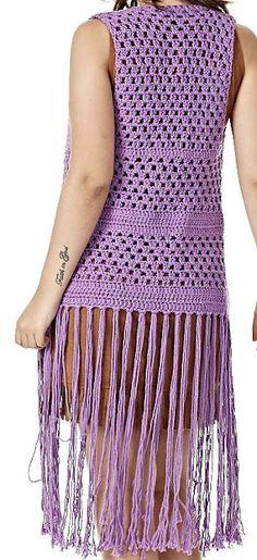 Fabulous Crochet a Little Black Crochet Dress Ideas. Georgeous Crochet a Little Black Crochet Dress Ideas. Black Crochet Dress, Crochet Jacket, Crochet Cardigan, Crochet Woman, Love Crochet, Knit Crochet, Crochet Shawls And Wraps, Vest Pattern, Freeform Crochet