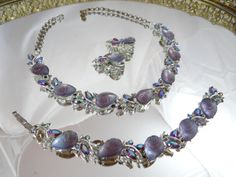 Vintage BSK Amethyst Rhinestone Thermoset in a by SecondWindShop