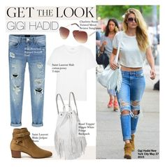 Get The Look-Gigi Hadid by kusja on Polyvore featuring mode, Yves Saint Laurent, Charlotte Russe, GetTheLook, celebstyle and gigihadid
