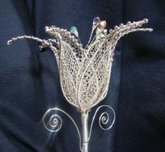 lily silver wire free tutorial translated by Google
