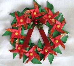 PINWHEEL CHRISTMAS WREATH - Scrapbook.com