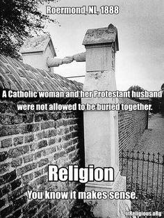 Sad Catholic Protestant Gravesite Religion Makes Sense