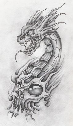 dragon_with_skull_2_by_markfellows.jpg (725×1241)