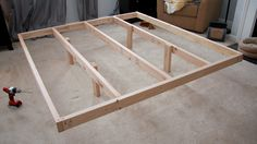 Our Hand-Built King-Sized Platform Bed