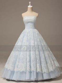 A-line Baby Blue Lace Wedding Gown 2014 Fashion dresses blue lace This item is unavailable Chic Wedding Dresses, Wedding Gowns, Wedding Shot, Modest Wedding, Wedding Table, Bridal Gowns, Quinceanera Dresses, Prom Dresses, Quince Dresses
