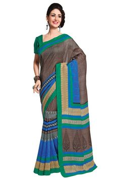Sober Casual Wear Multicolor Color  Printed Silk Saree @ just Rs. 935