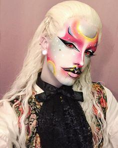 ♥ The Arseniek ♥ Punk Makeup, Male Makeup, Makeup Art, Beauty Makeup, Drag King Makeup, Queen Makeup, Makeup Inspo, Makeup Inspiration, Hair Evolution