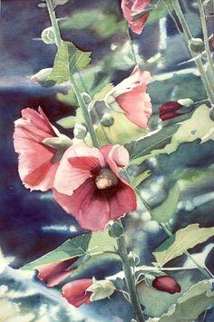 Judith Gleason Glover- Hollyhocks