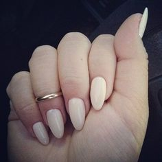 Almond nails with nude color
