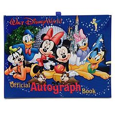 Official Walt Disney World Resort Autograph Book   Disney StoreOfficial Walt Disney World Resort Autograph Book - Perfect for any Princess or Cowboy looking to take the magic home. Ariel, Woody, Cinderella, and Mickey can write special messages to your little one, sending them home with that special Disney magic forever.