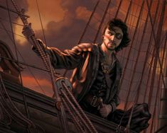 m Rogue Thief pirate ship water coastal Euron Crow's Eye by allendouglasstudio on DeviantArt Fantasy Inspiration, Story Inspiration, Character Inspiration, Character Art, Character Design, Monkey Island, Pirate Art, Pirate Life, Vikings