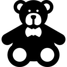 Teddy Bear free vector icons designed by Freepik Teddy Bear free icon Baby Flash Cards, Baby Cards, Black And White Baby, Black And White Pictures, Stencil Patterns, Card Patterns, Hilograma Ideas, Montessori, Baby Teddy Bear