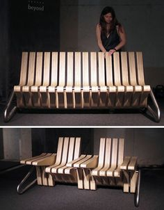 Wooden Flip Chairs Design