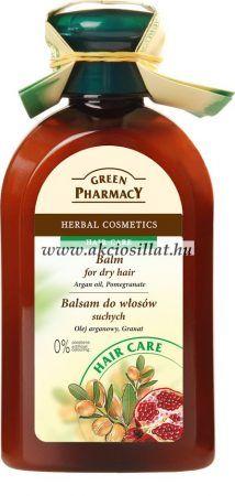Green Pharmacy hajbalzsam száraz és erősen igénybevett hajra argán olaj és gránátalma kivonattal 300ml