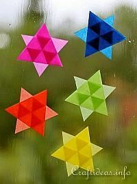 Christmas Paper Craft - Easy to Make Mini Transparent Stars
