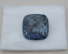 Blue Mystic Quartz Cushion Gem 26 x 26mm #pinnaclediamonds