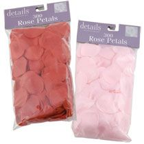 Rose petals...work well on reception tables or on a floor runner.