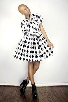The Minnie Bell- African Print  100% Holland Wax Cotton Dress. $175.00, via DemestiksNYC on Etsy.