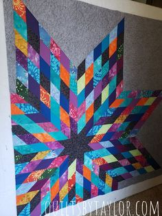 Embroidery Idea Putting My Zen Star Quilt Together, Modern Star Quilt - The making of my Zen Quilt Lone Star Quilt Pattern, Star Quilt Patterns, Modern Quilt Patterns, Star Quilts, Easy Quilts, Embroidery Patterns, Fat Quarters, Quilting Projects, Quilting Designs