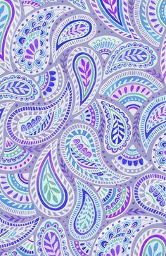 Purple pailsey print.
