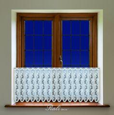 Jasmína, bílá záclona výška 30cm - RALI Decor, s.r.o. - bytový textil, záclony a povlečení