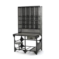 http://beautifulhomestore.com/12347.html  Rain, Sleet or Snow Mail Station Desk and Cubby Hutch  Item#: 12347