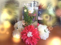 Nişan törenim için hazırladığım masa süsleri. #centerpieces #tissuepaperwreath