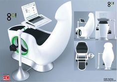 Sit Down and Go: Exercise Bike-Powered Laptop Desk