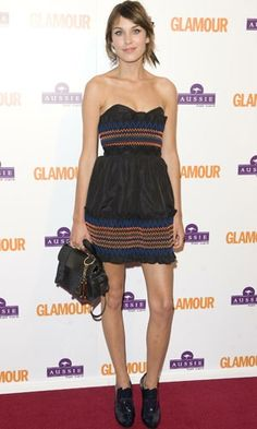 Alexa Chung in Luella dress - 2008 Glamour Women Of The Year Awards.  (June 2008)