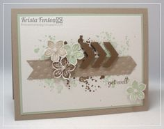 Stampin' Up! Card by Krista's Stamp Spot: Petite Petals with Gorgeous Grunge