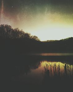 Tiny tiny moon  #water #water_captures #water_shots #water_perfection #evening #rsa_water #ig_wv #igers_of_wv #almostheaven #sombresociety #sunset #dark #fall #grunge #grit #jj_sombre #jj_mextures #lake #lakeside #naturelovers #nature #m3xtures #mexturesapp #mexturesedit