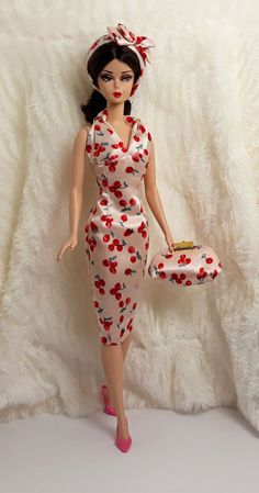 Handmade Cherry Strawberry Outfit Dress & Bag Hairband For Barbie Silkstone Doll | Dolls & Bears, Dolls, Barbie Contemporary (1973-Now) | eBay!