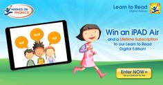 Help your child learn to read using the impressive Learn to Read program on a beautiful new Apple iPad Air, for FREE! Now's the time to enter the sweepstakes to win!
