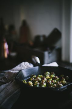 Sautéed Sherry Brussels Sprouts with Bacon, Carame...