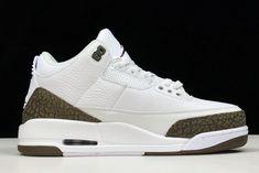 timeless design c30dd 2795f New Air Jordan 3 Retro Mocha White Chrome Dark Mocha 136064-122 Mens Shoes-