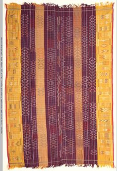 Africa | Nupe woman's ceremonial wrapper cloth, Nigeria, mid C20th. This is a notably fine and elaborate example. William Itter Collection, USA
