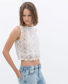 CROP LACE TOP from Zara $49.90