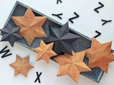 DIY-Anleitung: Korksterne für Tischdeko anfertigen, basteln mit Papier / crafting inspiration: craft stars with cork via DaWanda.com