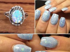 Allow us to introduce you to the newest trend in nail art: opal nails. This gorgeous manicure technique is named after the opal gemstone, obvs. Most opals are technically white, but they're known for their iridescence and the way they reflect light and color. Looking at one is kind of like looking at a rainbow made of glitter. (And who wouldn't love to do that?) Ancient Bedouins even believed opals fell from the sky during thunderstorms and contained bits of lightning. All of the sparkly…