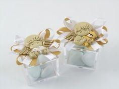 Scatolina plex con magnete angelo bomboniere solidalida cuore matto. Bomboniere bombonchic http://www.bombonchic.com/scatola-magnete-angelo-maschio-bomboniere-battesimo.html