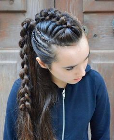Pin by Gladys Avila on Beauty in 2019 « Fast Hairstyles braids Pin by Gladys Avila on Beauty in 2019 Fast Hairstyles, Box Braids Hairstyles, Pretty Hairstyles, Girl Hairstyles, Viking Hairstyles, School Hairstyles, Teenage Hairstyles, Braided Ponytail Hairstyles, Unique Hairstyles