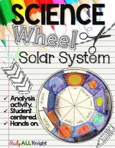 The Solar System: Planets Wheel Interactive Notebook Activity ($)