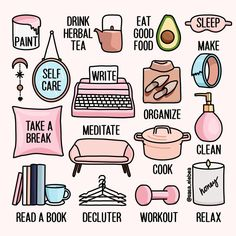 These are tough times. I'm taking a break from women's health and focusing on world health! Need some ideas on what to do if you're social distancing? This graphic from IG:sasa_elebea reminds you to TAKE CARE OF YOURSELF - FIRST AND FOREMOST. Sleep Tea, Good Sleep, Eat Sleep, Bye Felicia, Ava Green, Care Organization, Self Care Activities, Colourpop Cosmetics, Self Care Routine