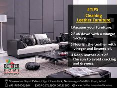 #Tips:- #Cleaning #Leather #Furniture  #betterhome  #homefurniture